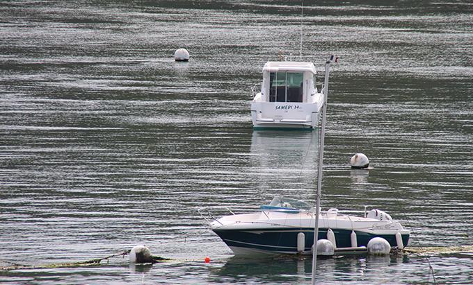 des bateaux sur mer calme