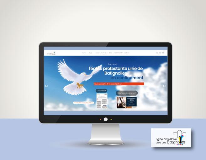 vue de la home page du site