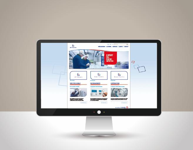 Vue de la homepage de Idf Thermic